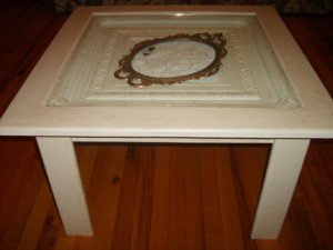 tin ceiling tile table