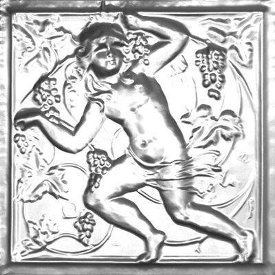 D'VINE CHERUB - TIN CEILING TILE - 2484