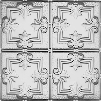 Detailed Fleur de Lis - Tin Ceiling Tile - 1202DD