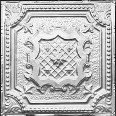 ELIZABETHAN SHIELD - TIN CEILING TILE - 2421