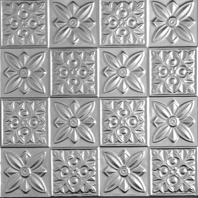 FLOWER POWER - TIN CEILING TILE - 0612