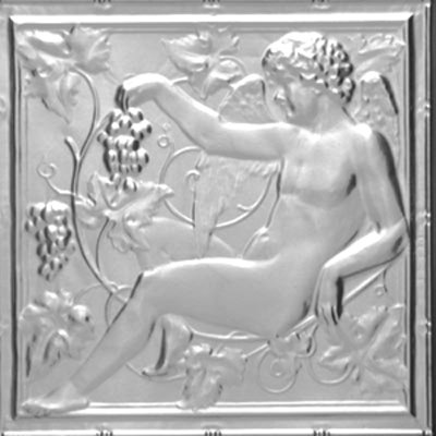 GUARDIAN CHERUB - TIN CEILING TILE -2442