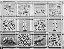 Gwen's Cabin - Aluminum Backsplash Tile - #0512