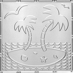Island Oasis - Tin Ceiling Tile - 24x24 - #2481