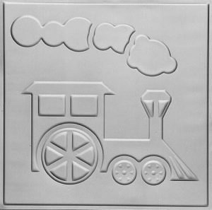 TOY TRAIN - TIN CEILING TILE - 2480