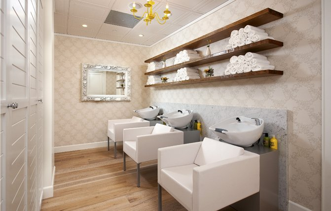 Ceiling Tile Ideas - Beauty Salon