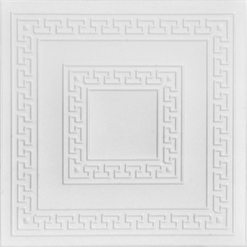 Greek Key - Styrofoam Ceiling Tile - R 21