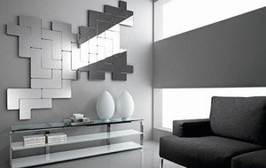 Mirror Wall Art using Decorative Wall Panels