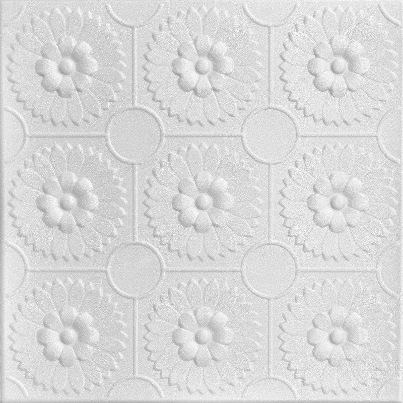 Sunflowers - Styrofoam Ceiling Tile - R136