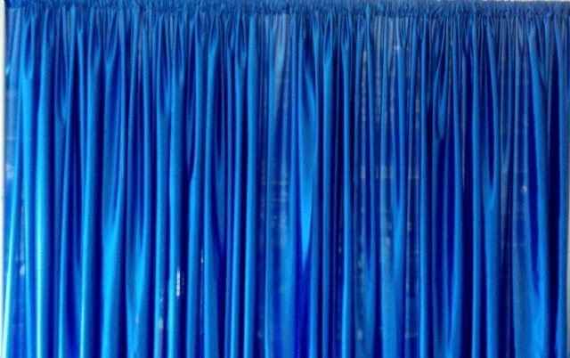 Blue Backdrop Drapery