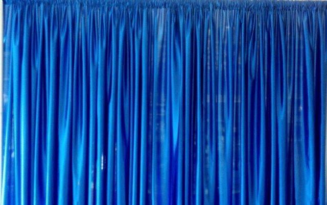 Blue Backdrop Drapery