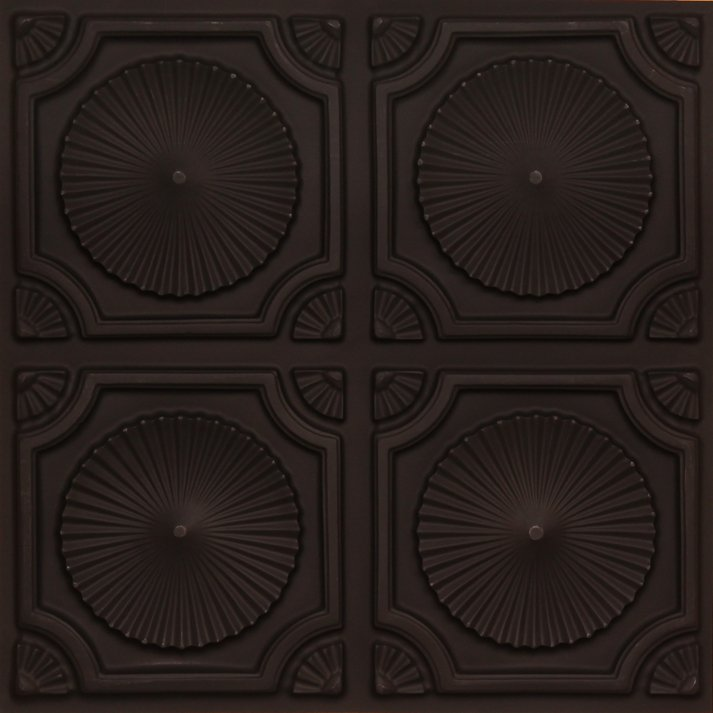 Whirligigs - Black Faux Tin Ceiling Tile - Glue up - 106
