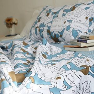 Blue Dog Cartoon Print Duvet Cover