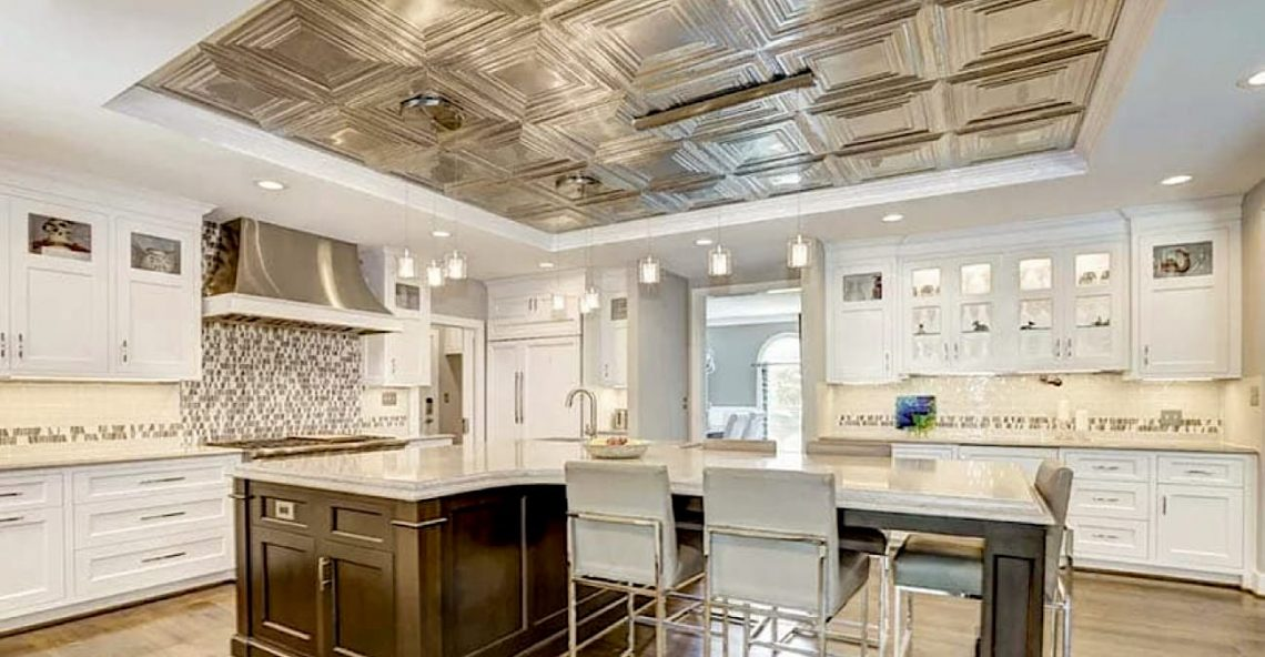 Create a Beautiful Ceiling Tile Inset in Your Kitchen