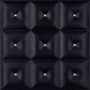 LRT19 faux leather ceiling tile black diamond