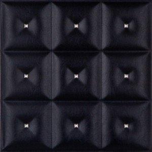 LRT19 faux leather ceiling tile black diamond