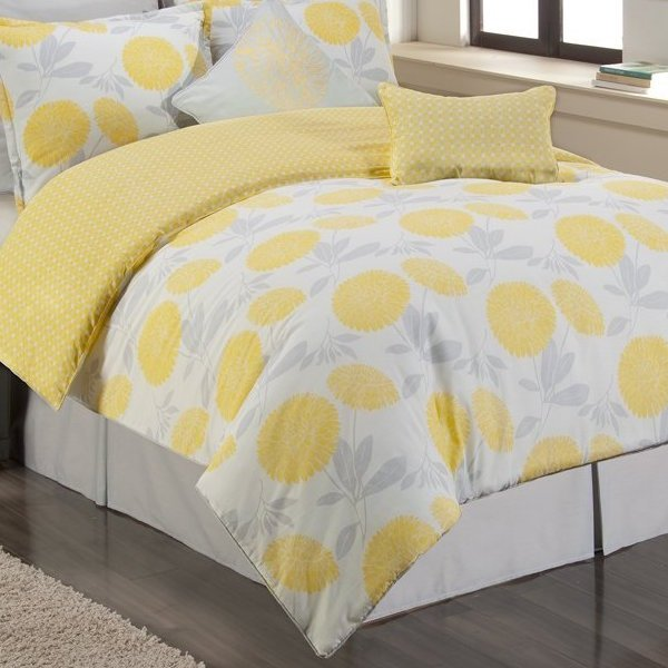 Sunset and Vine Briar Cliff Comforter Set Yellow and Grey