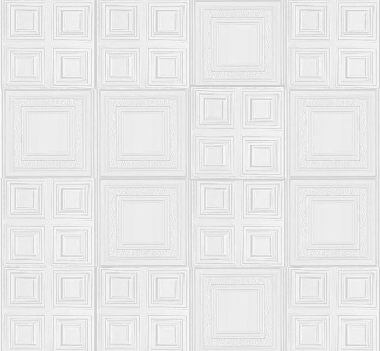 Tin Ceiling Tile Wall Design