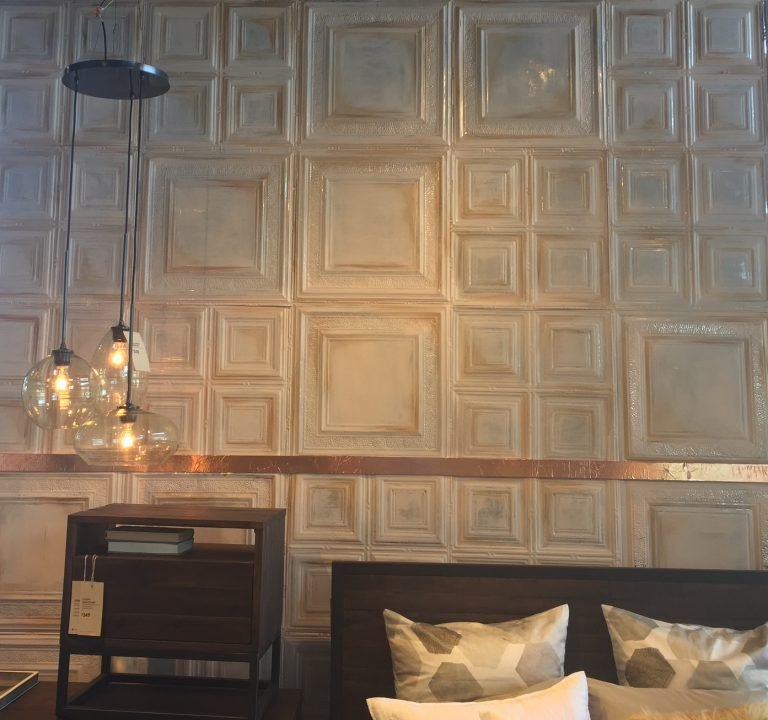 Tin Tile Wall Panels at West Elm