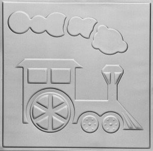 Toy Train Tin Tile