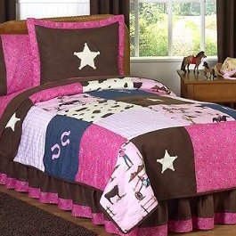 Western Horse Cowgirl Childrens Bedding