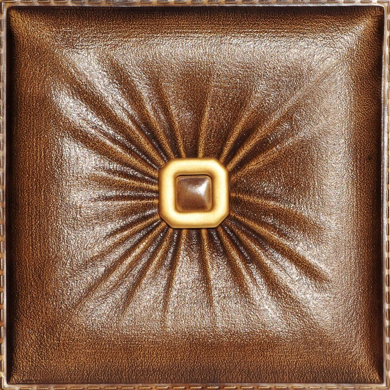 buckle up faux leather ceiling tile LRT02 Caramel