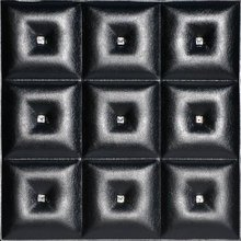 diamonds in the sky faux leather ceiling Tile LRT19 black
