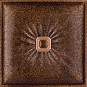 LRT 02 vintage gold faux leather tile