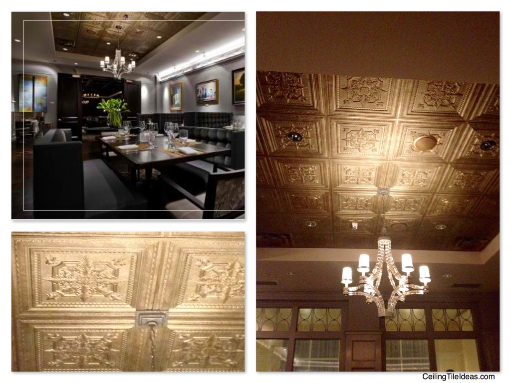 Decorative Ceiling Tiles The Ballantyne Hotel Gallery Restaurant Charlotte North Carolina