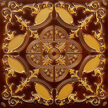 Golden Prague - Faux Tin Ceiling Tile - Glue up - 218