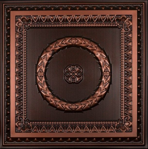 Laurel Wreath - Faux Tin Ceiling Tile - 210