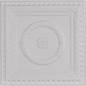laurel wreath faux tin ceiling tile 210 white matte