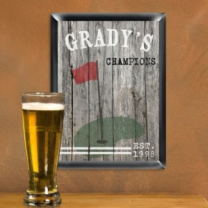 Personalized Traditional Golf Man Cave Bar and Pub Sign