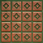 Copper Patina with Green Faux Tin Ceiling Tiles