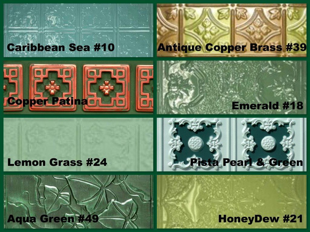 Green Decorative Ceiling Tiles