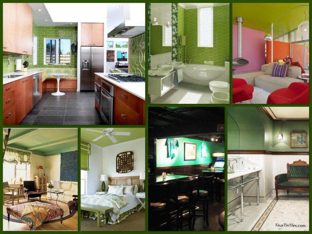 Green Decorative Walls & Ceilings Inspiration