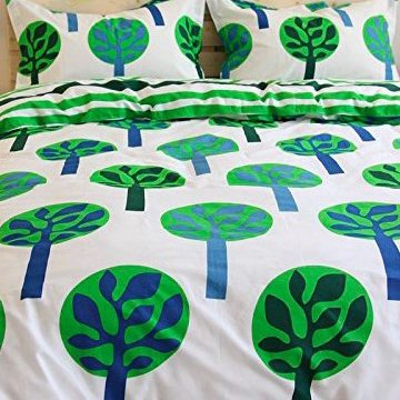 Cartoon Green Forest Bedding Sets