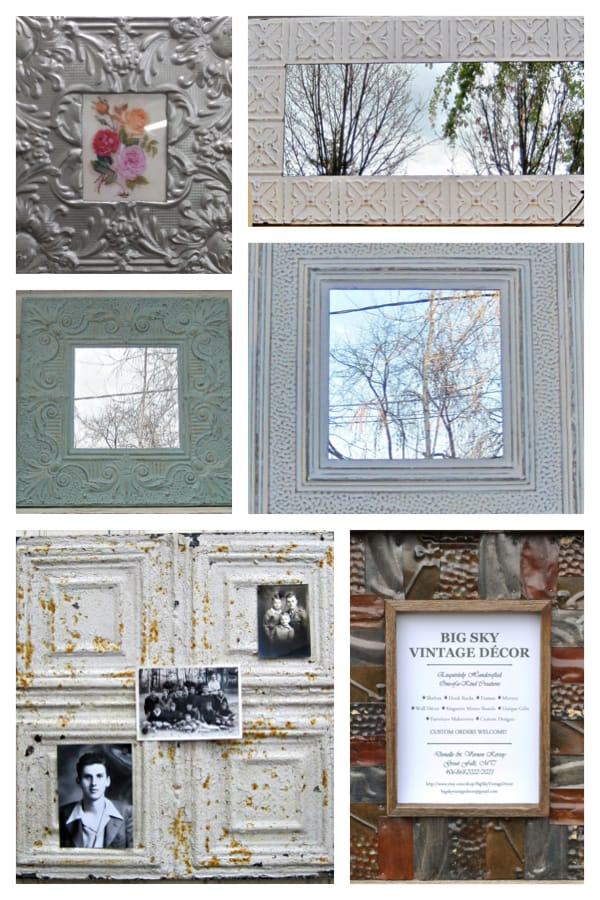 Tin Ceiling Tile Frames Mirrors Bulletin Boards Home Decor