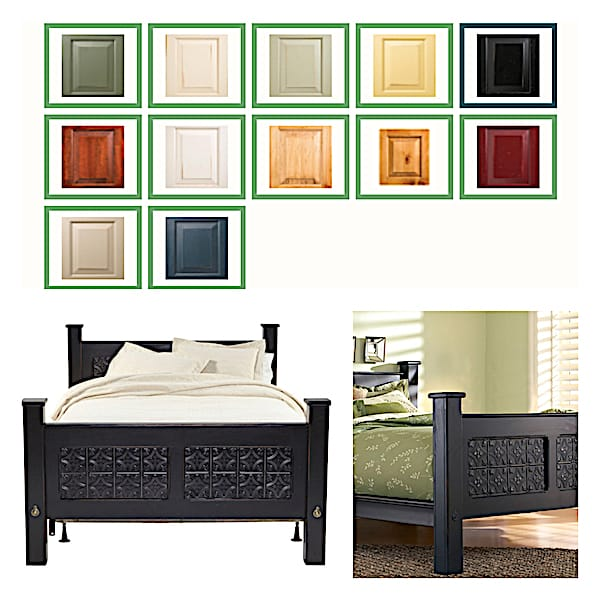 Wood-and-Tin-Ceiling-Tile-Bed